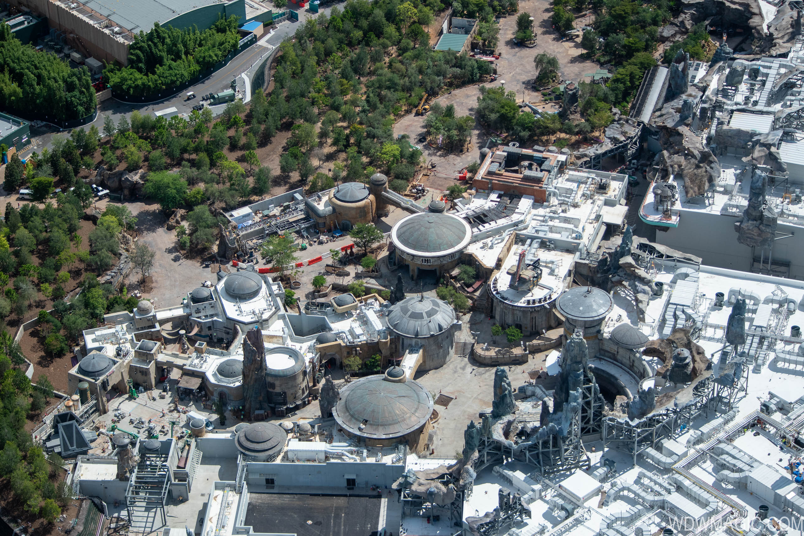 Star Wars Galaxy's Edge aerial pictures - July 2019