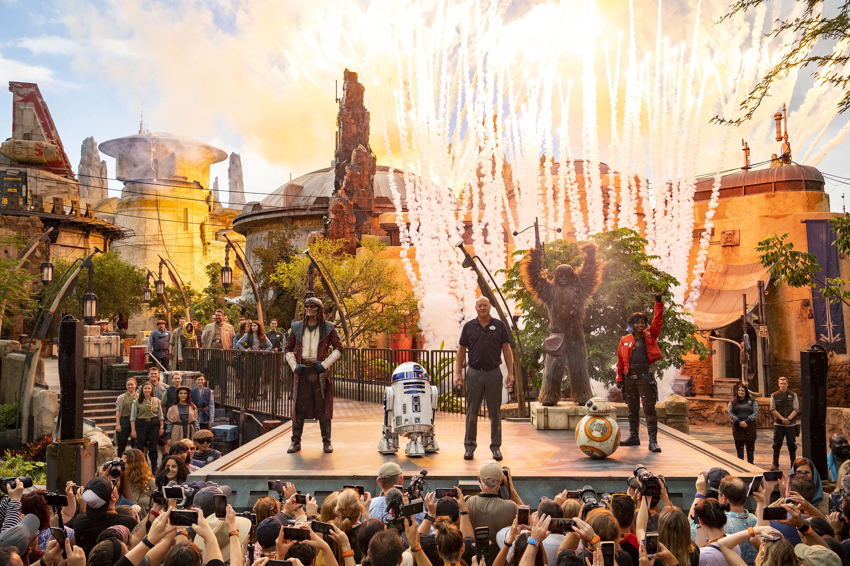 Star Wars Galaxy's Edge dedication ceremony
