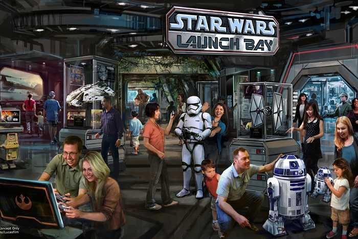 Star Wars Launch Bay concept art
