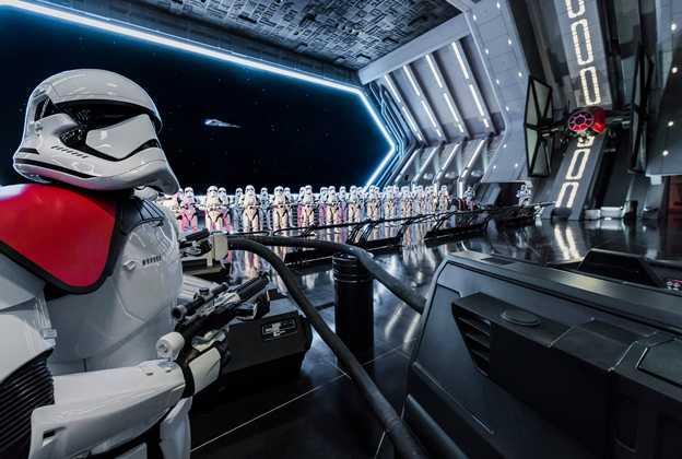 Inside Star Wars Rise of the Resistance hangar