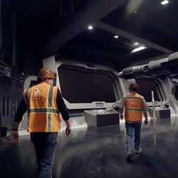 Inside Rise of the Resistance Gun Deck and AT-AT Bay