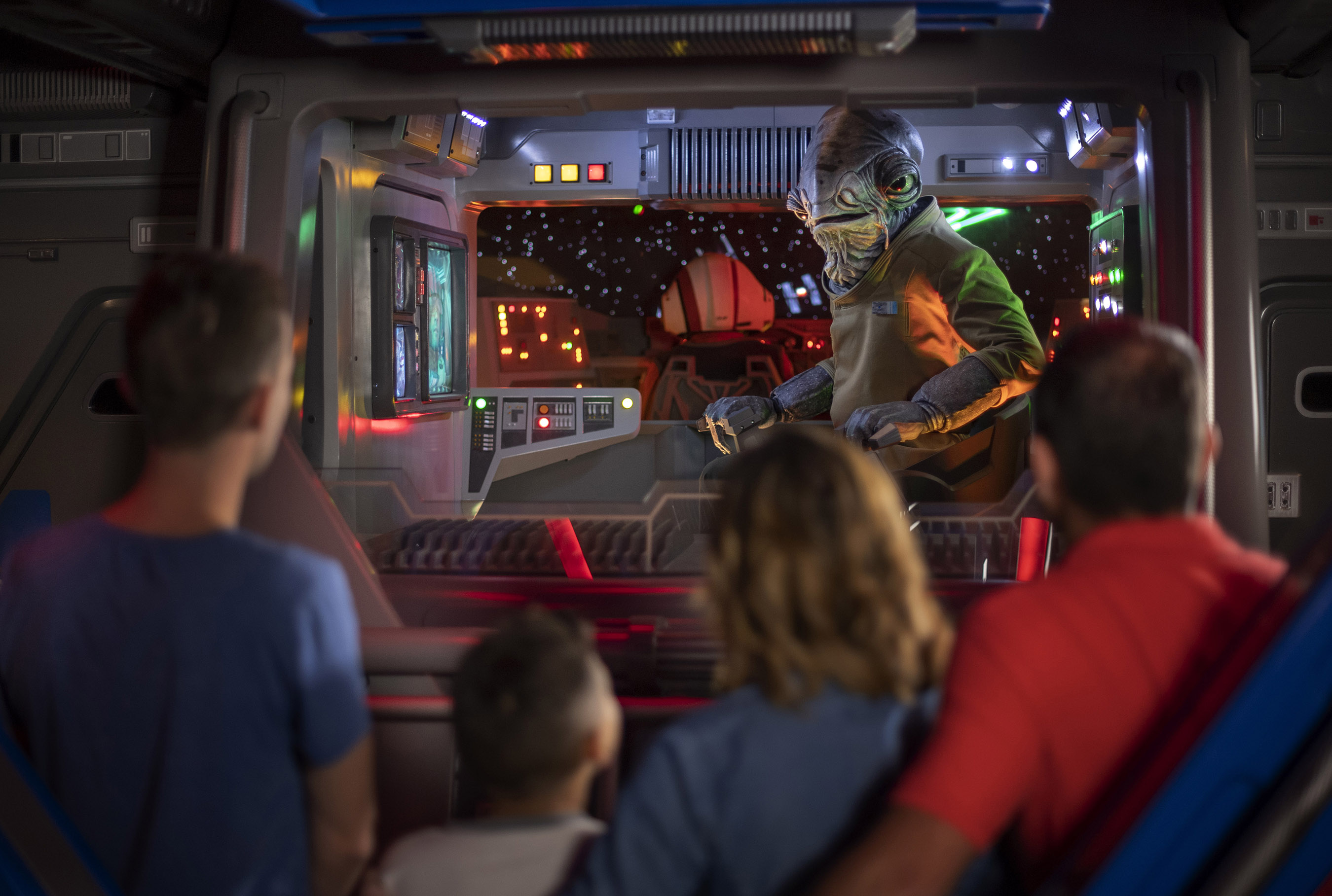 Inside the I-TS transport at Star Wars: Rise of the Resistance