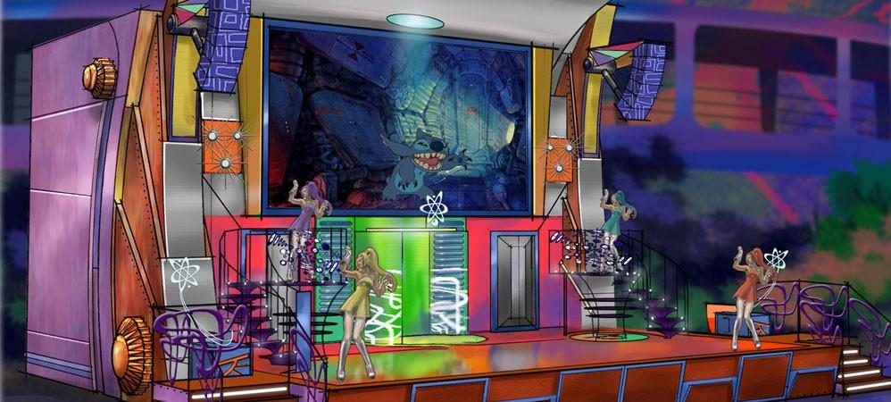Stitch's SuperSonic Celebration concept art