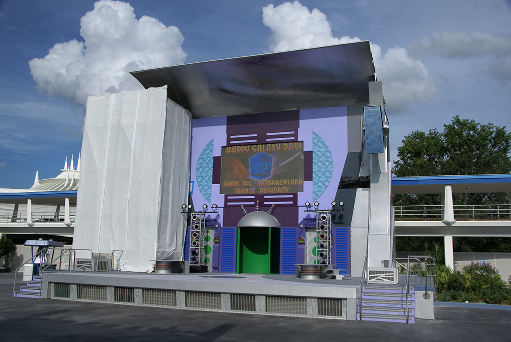 Stitch's SuperSonic Celebration stage refurbishment