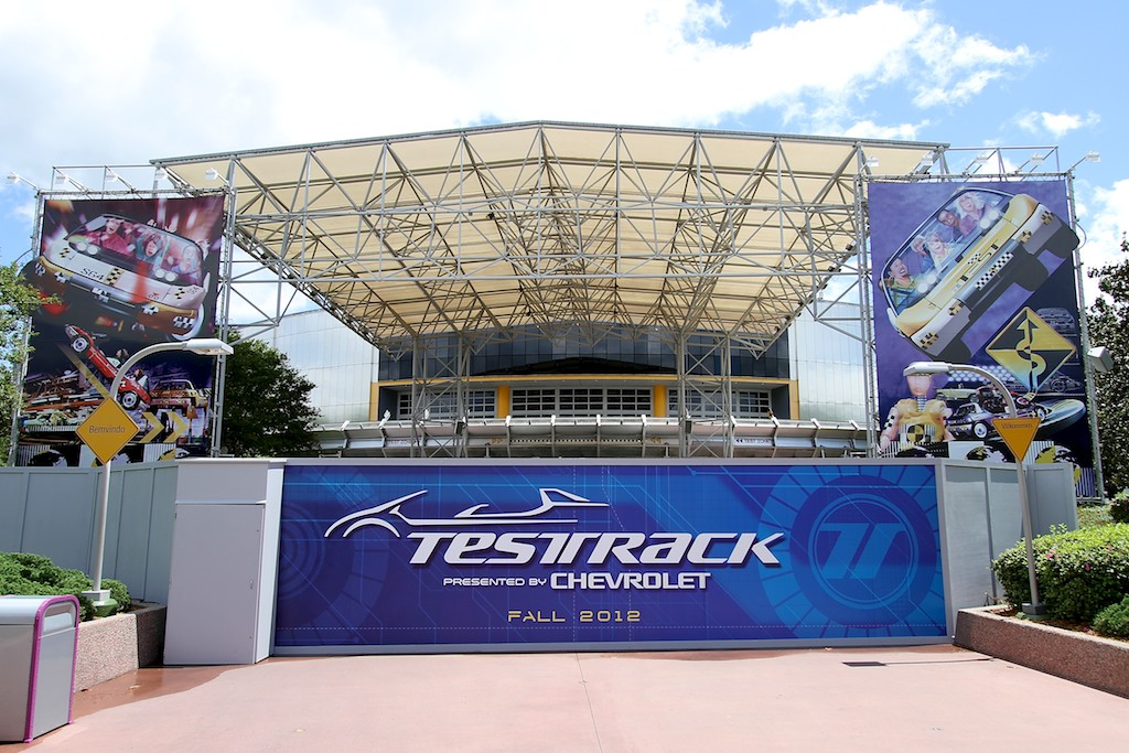 Test Track walled off for refurbishment