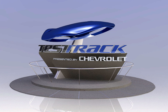 New Test Track entrance marquee