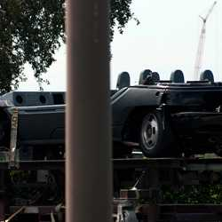 Test Track ride vehicles in transit