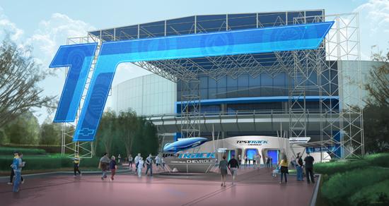 Test Track main entrance canopy concept art & Test Track main entrance canopy concept art - Photo 1 of 1
