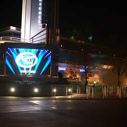 Walls down around American Idol and LED screen switched on
