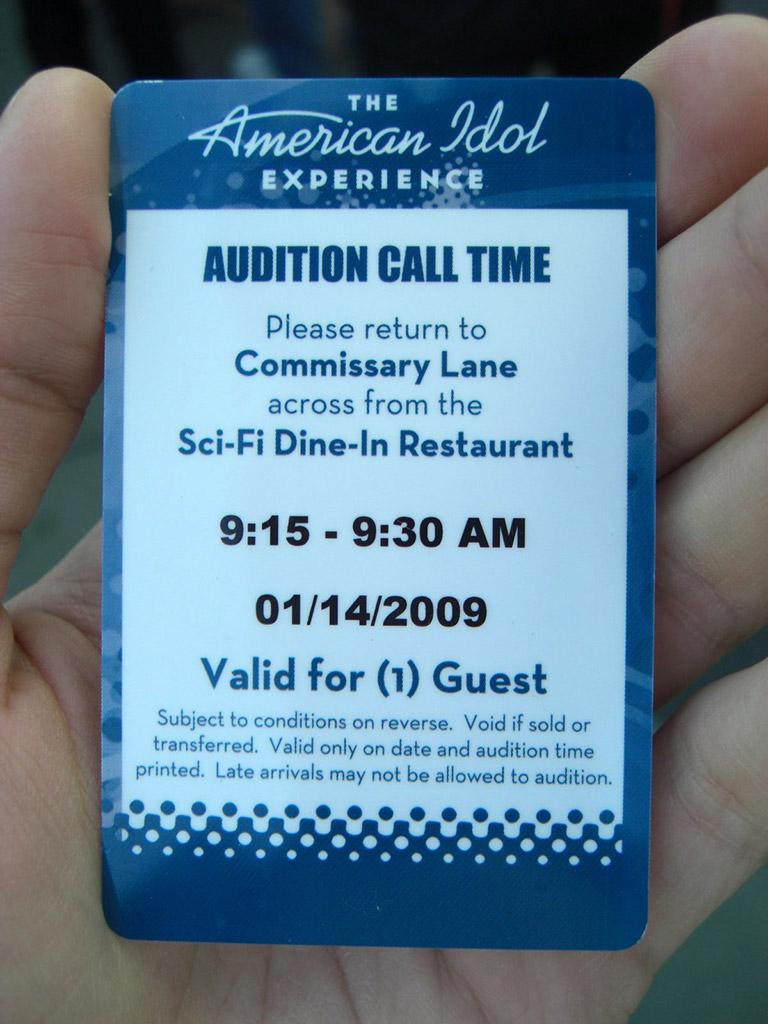American Idol audition pass