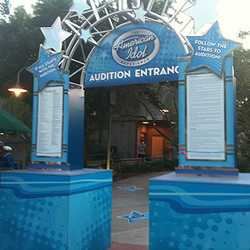 Second American Idol Experience Audition Entrance