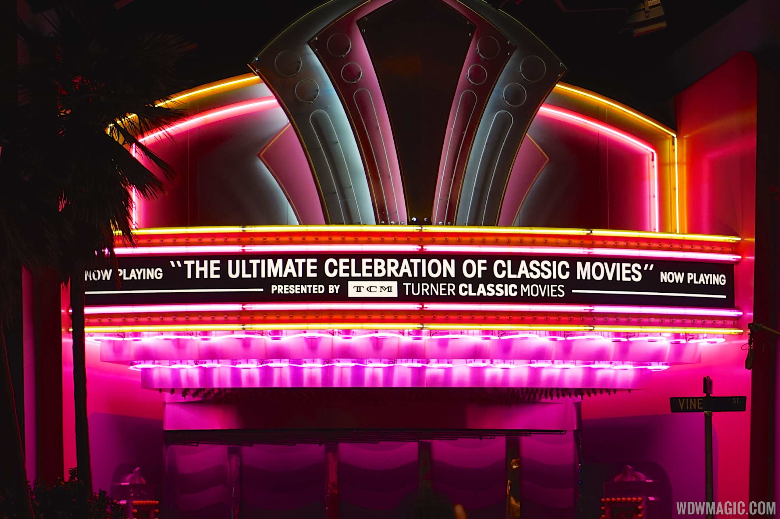 The Great Movie Ride TCM updates - New TCM signage at the start of the ride