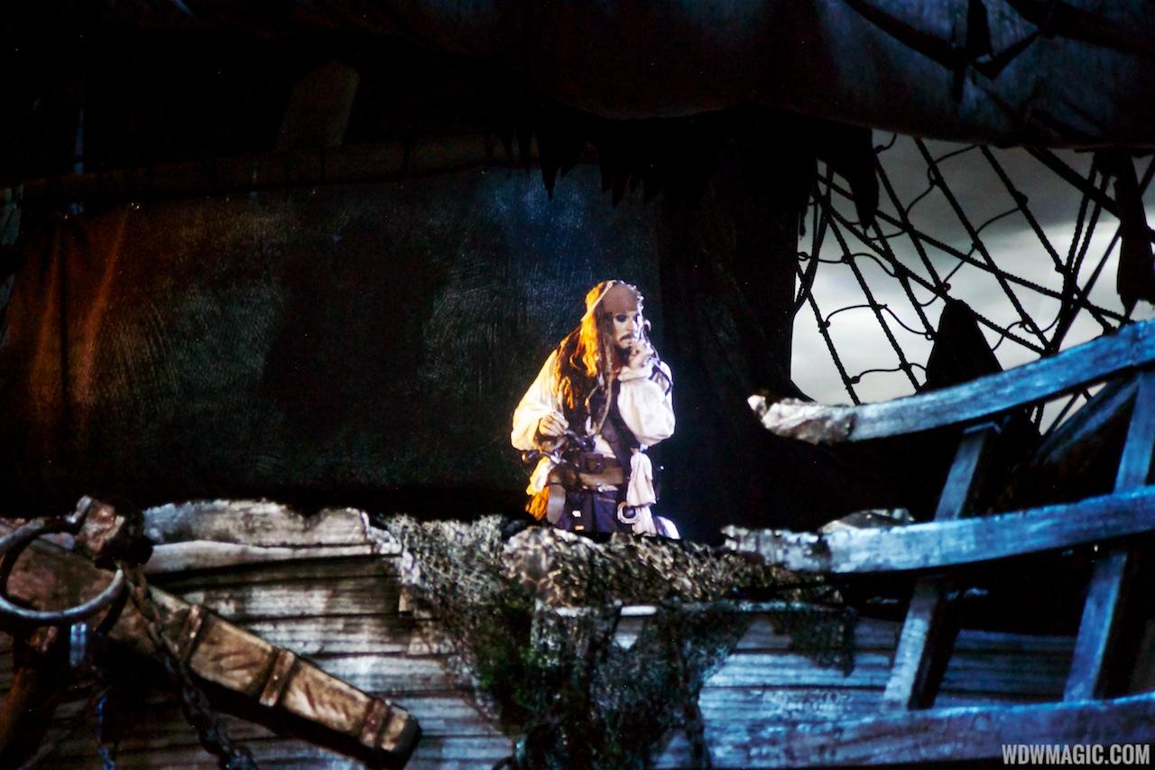 The Legend of Captain Jack Sparrow show - Captain Jack Sparrow appearance