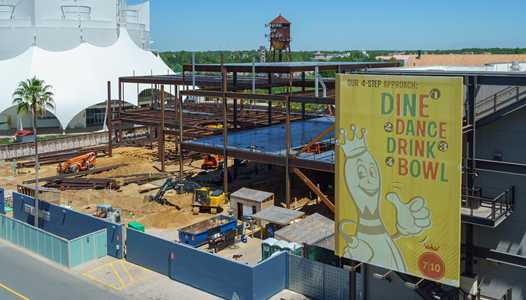 PHOTOS - The NBA Experience construction at Disney Springs