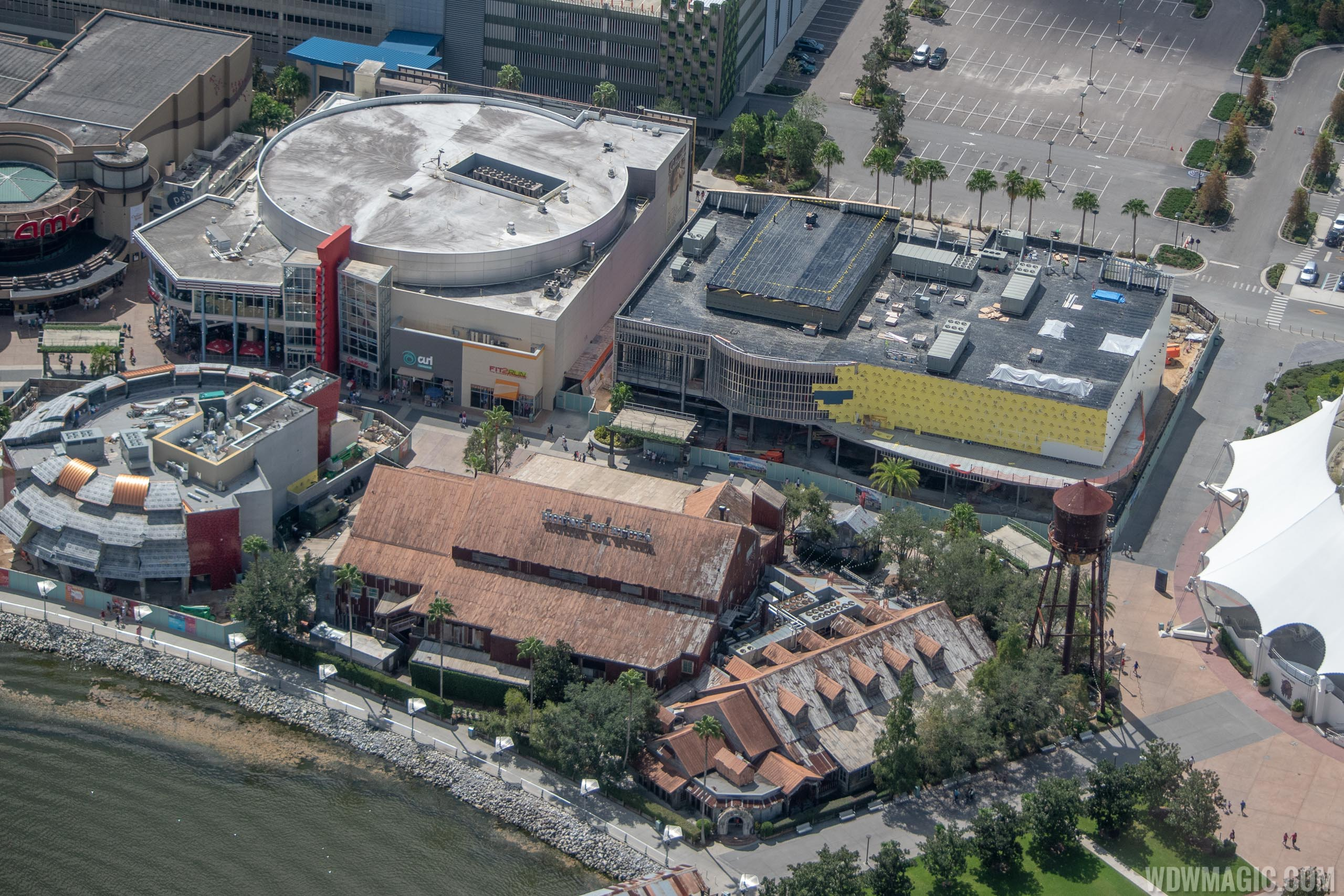 The NBA Experience construction aerial pictures - September 2018