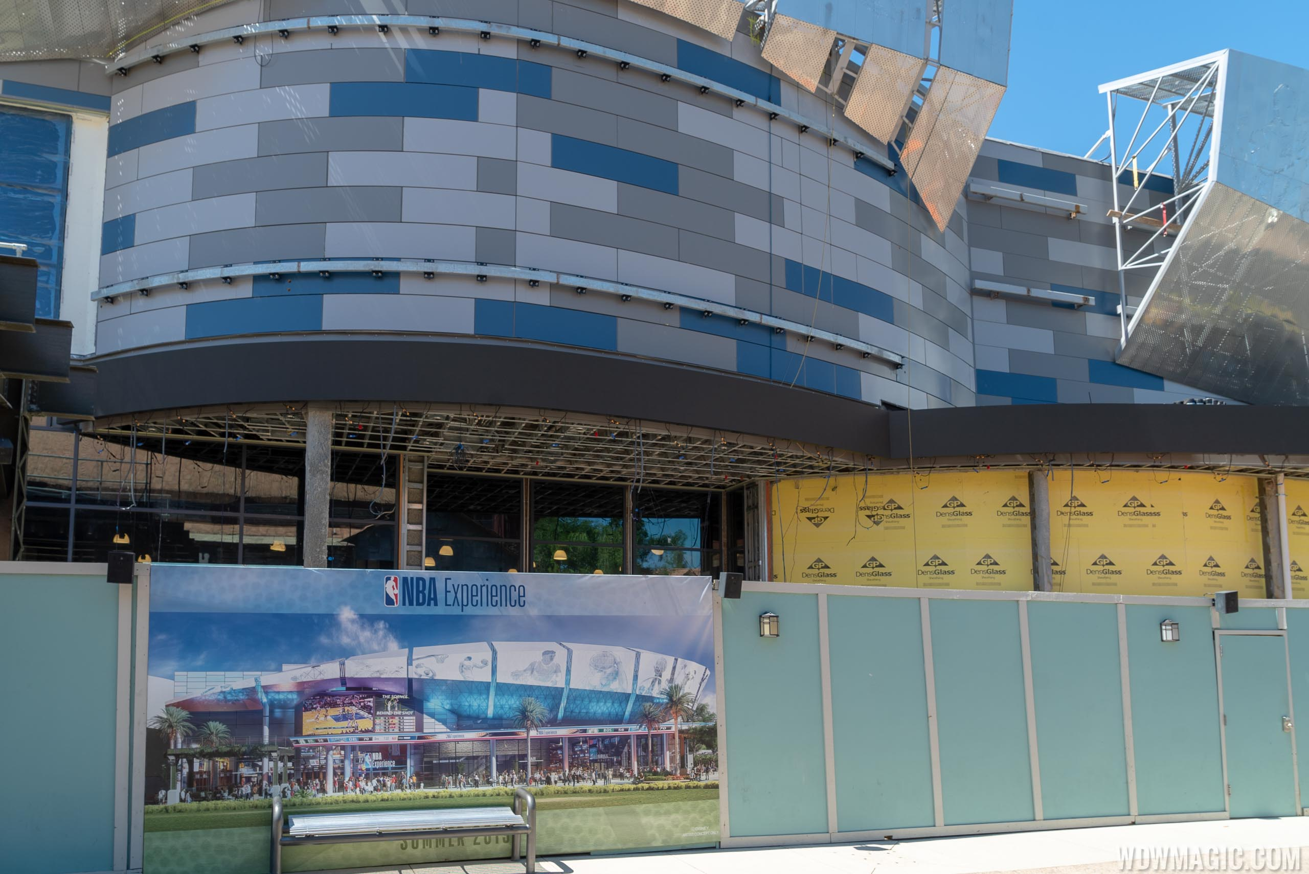 The NBA Experience and City Works construction - April 2019