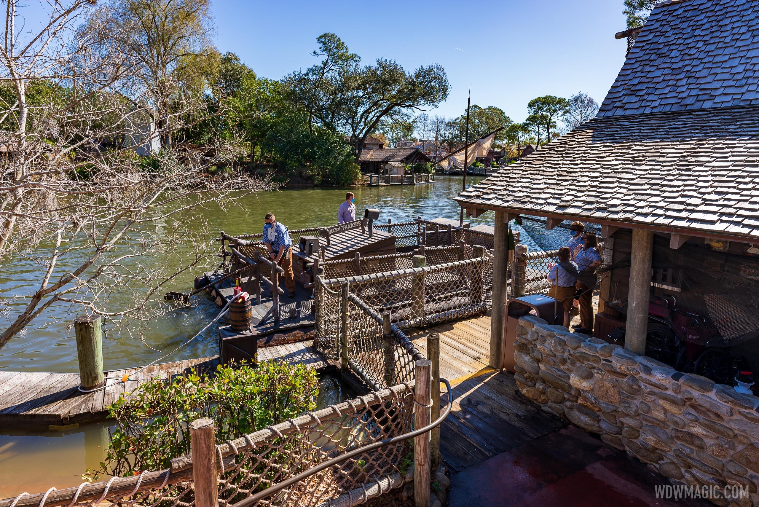 Tom Sawyer Island reopening February 2021