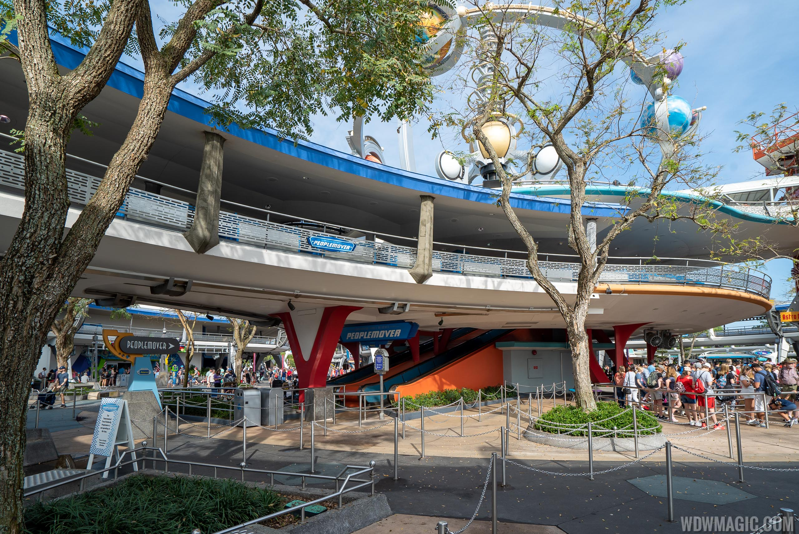 Tomorrowland Transit Authority PeopleMover closed