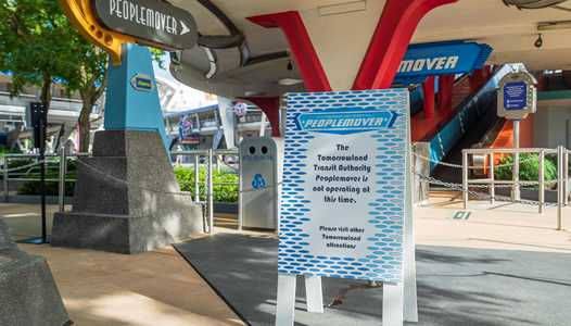 Tomorrowland Transit Authority PeopleMover now listed as under multi-month refurbishment