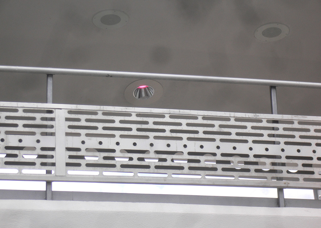 Tomorrowland Transit Authority refurbishment - colored overhead lighting