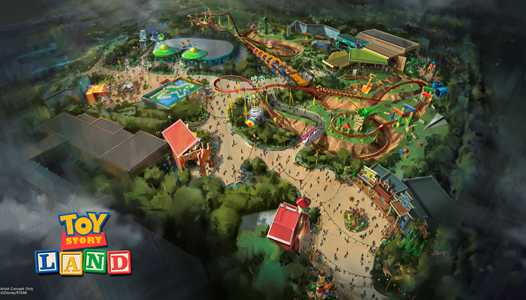 PHOTO - Concept art of the new Toy Story Mania entrance