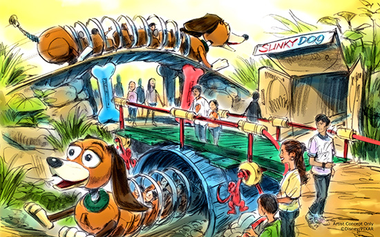Toy Story Land Slinky Dog coaster concept art