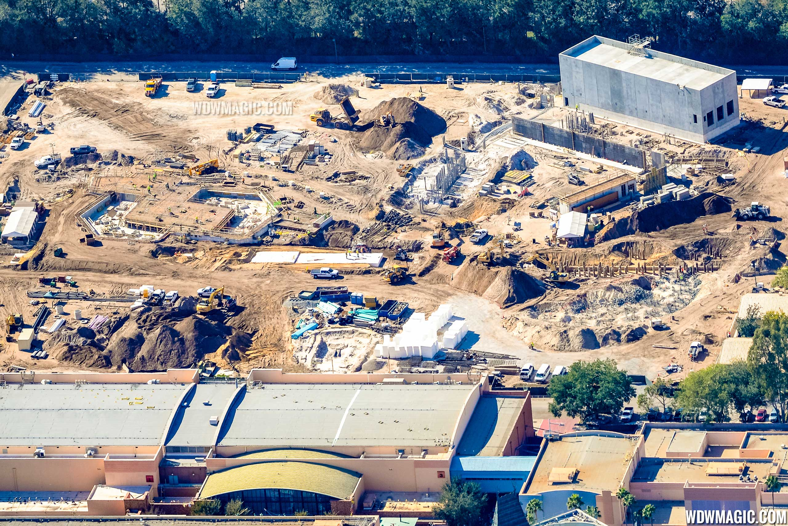 Photo by CJ Berzin @BerzinPhotography. Toy Story Land aerial view.