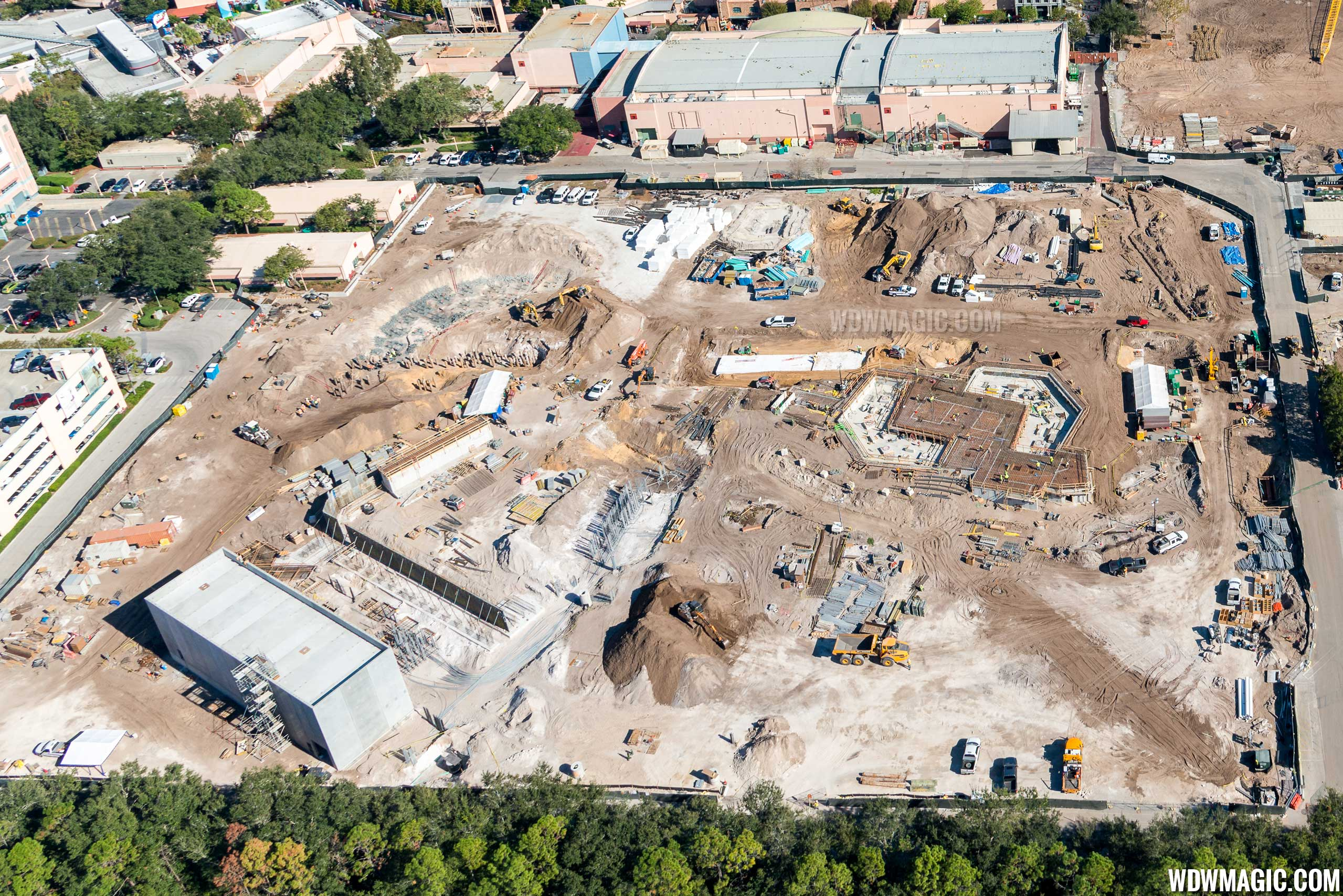 Toy Story Land aerial view - December 2016