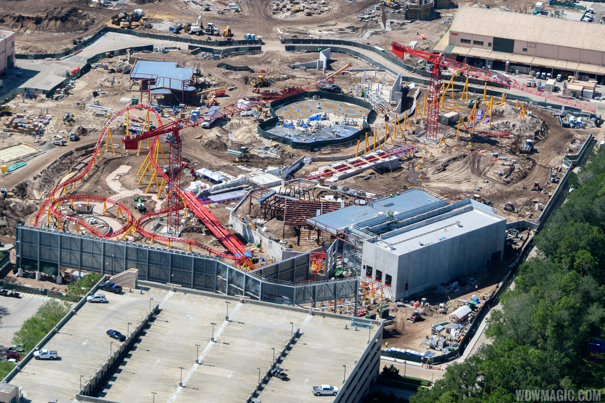 Toy Story Land currently under construction
