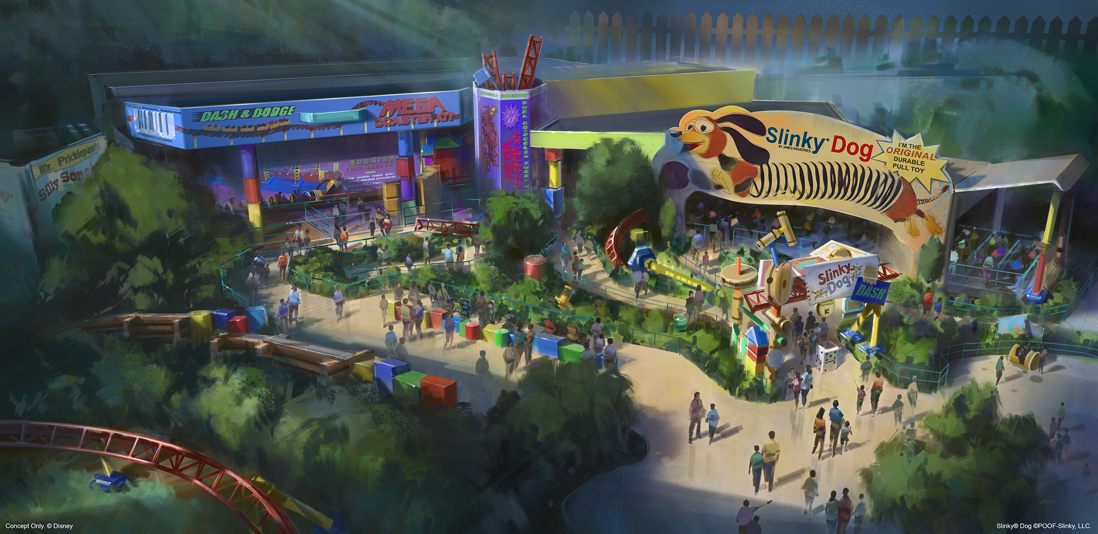 Toy Story Land concept art