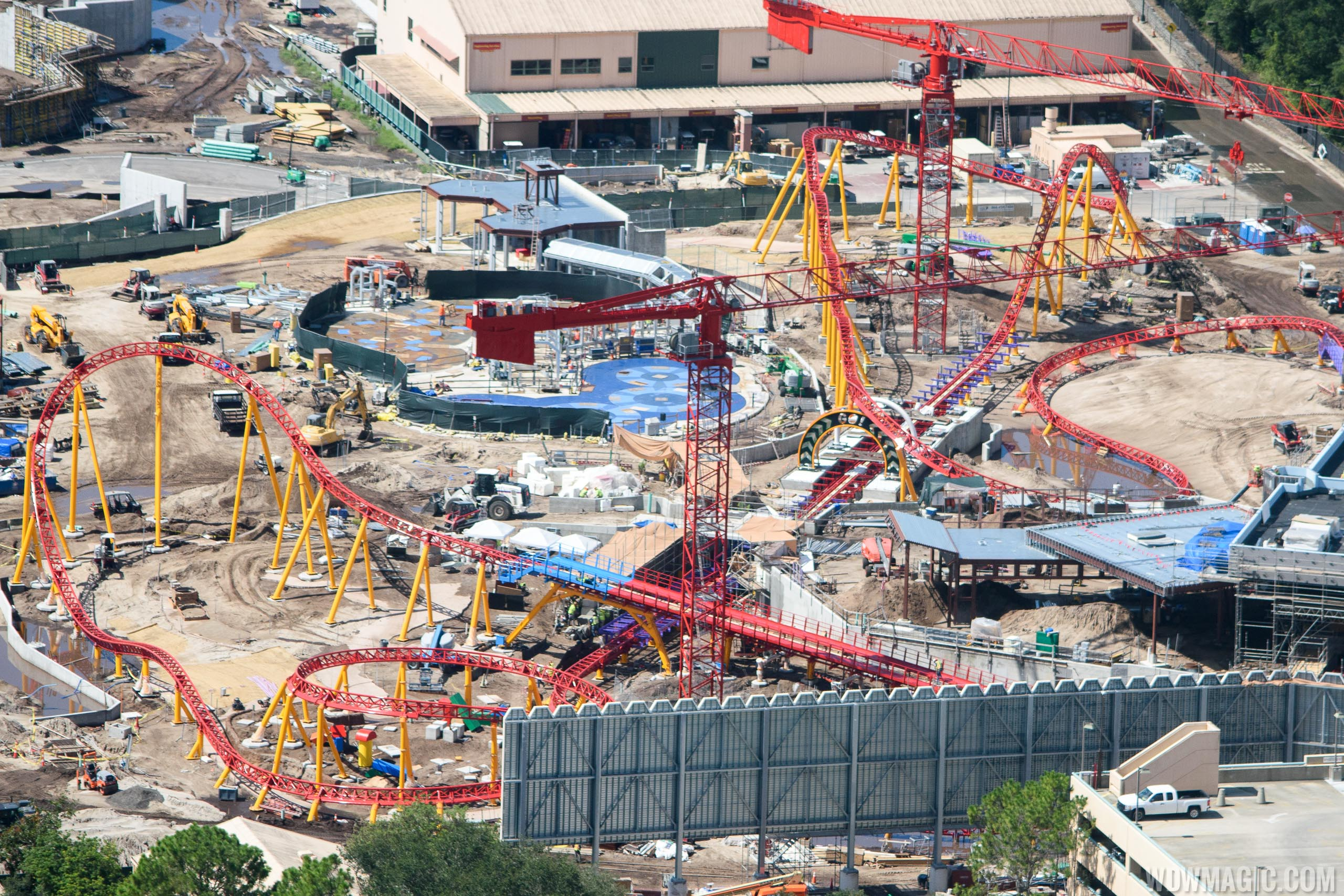 Slinky Dog Coaster construction at Toy Story Land