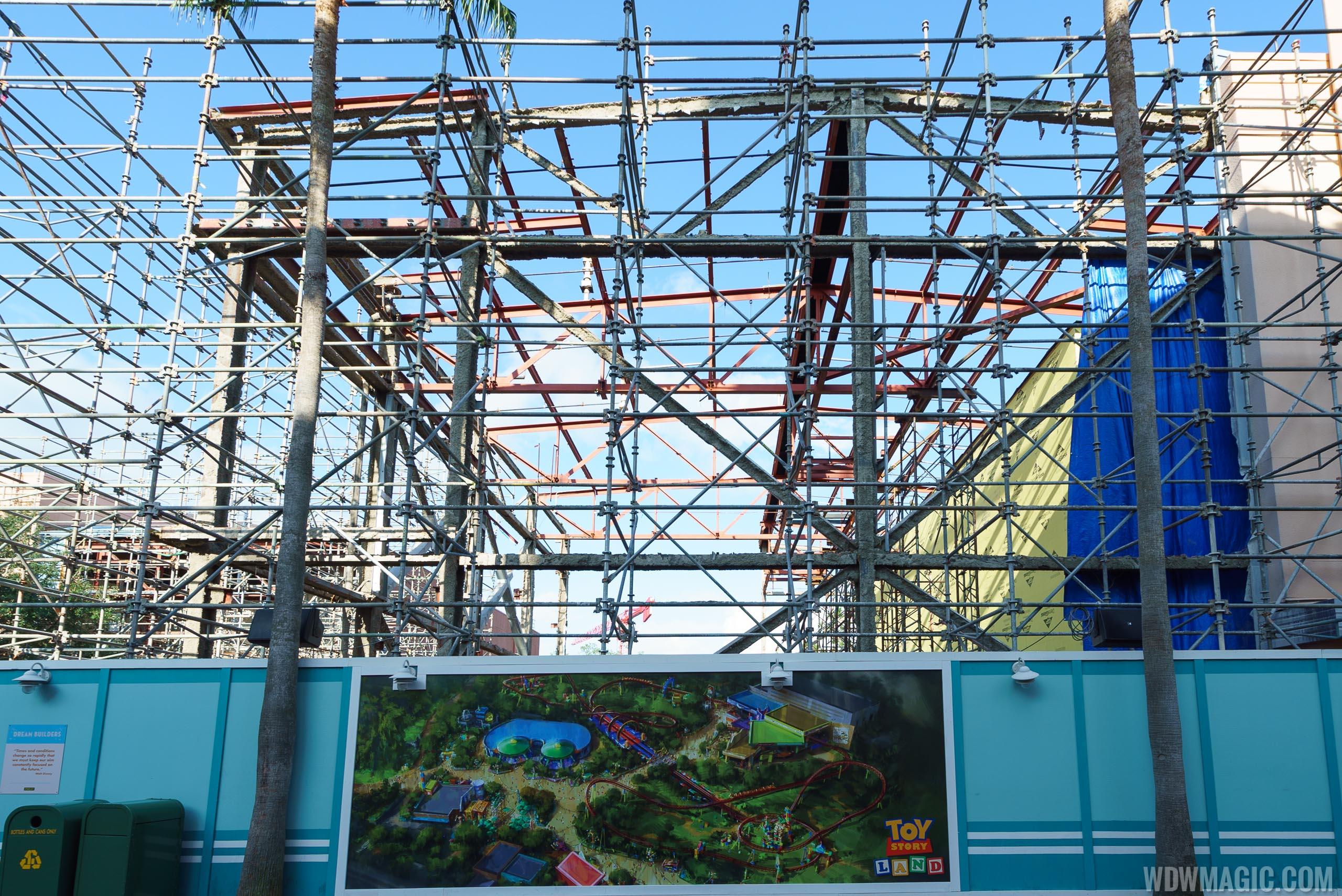 Toy Story Land entrance Soundstage 4 demolition