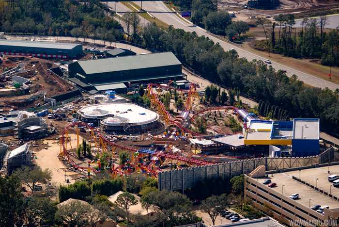 Toy Story Land aerial pictures