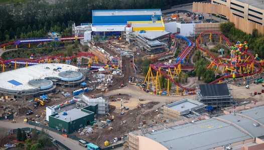 PHOTOS - Aerial views of Toy Story Land construction at Disney's Hollywood Studios