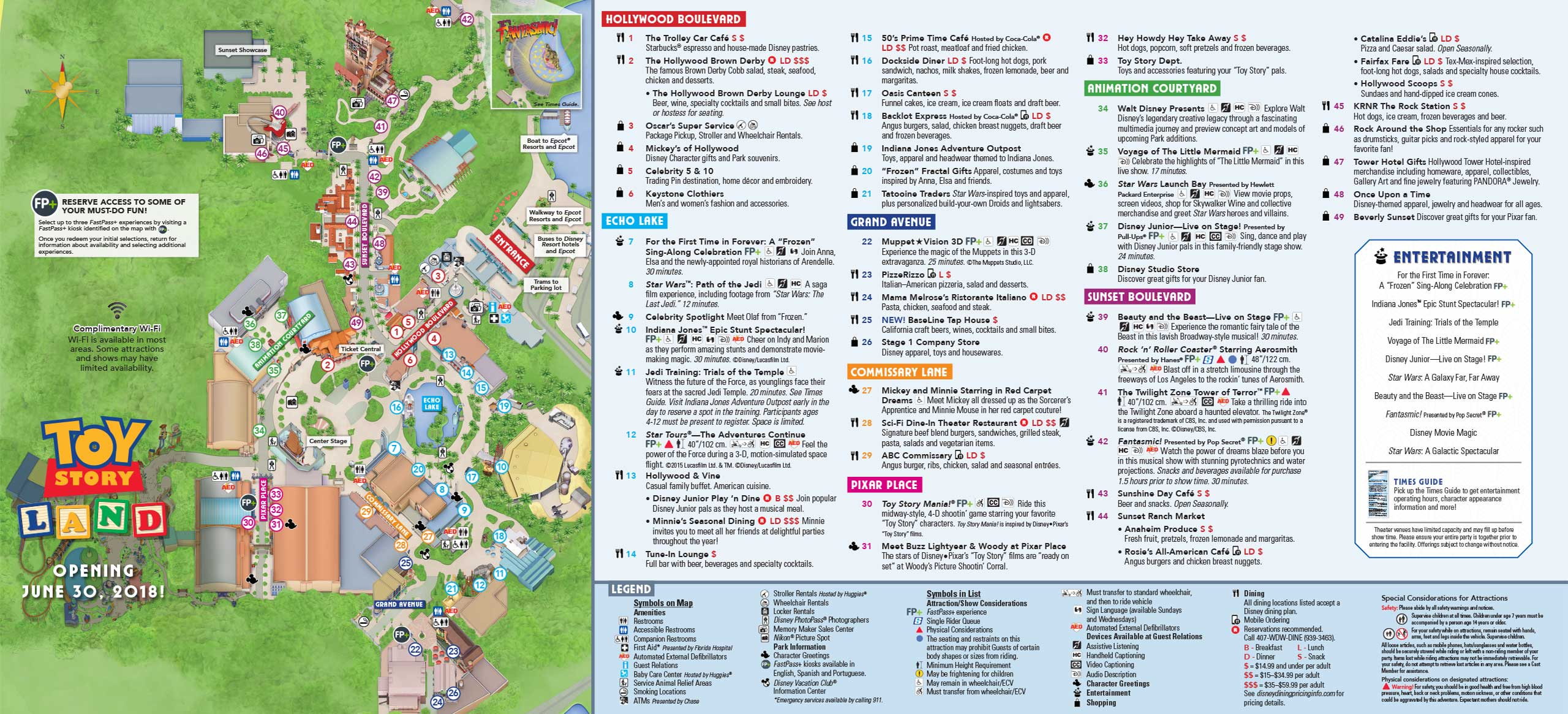 Studios Map with pre-opening Toy Story Land