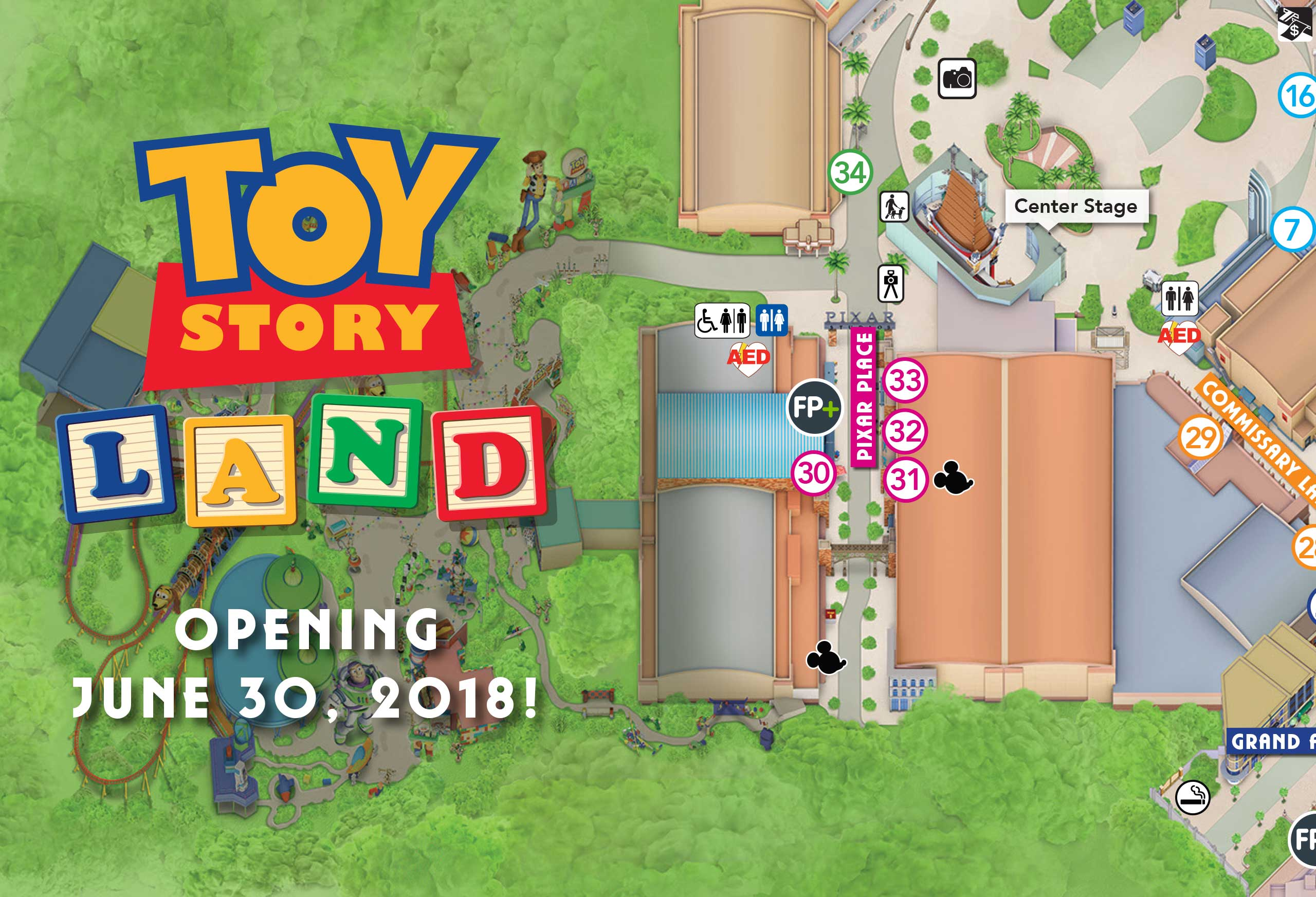 PHOTO - New guide map for Disney's Hollywood Studios shows Toy Story on