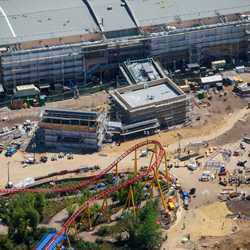 Toy Story Land aerial pictures - March 2018