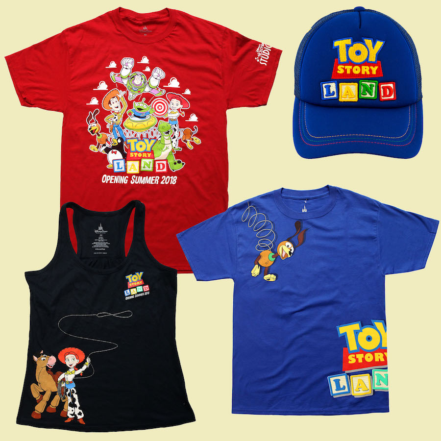 Toy Story Land t-shirts
