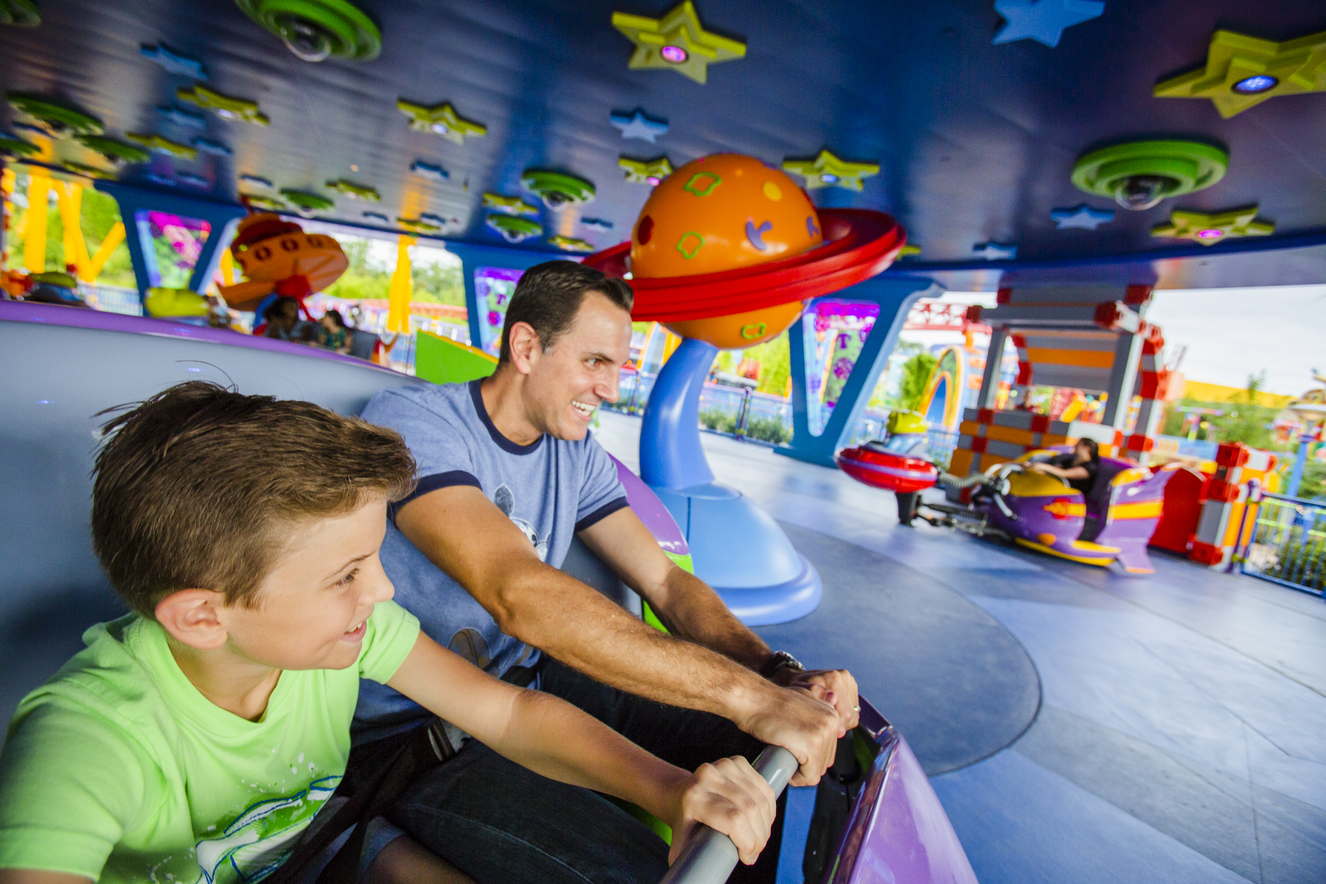 On-board Alien Swirling Saucers
