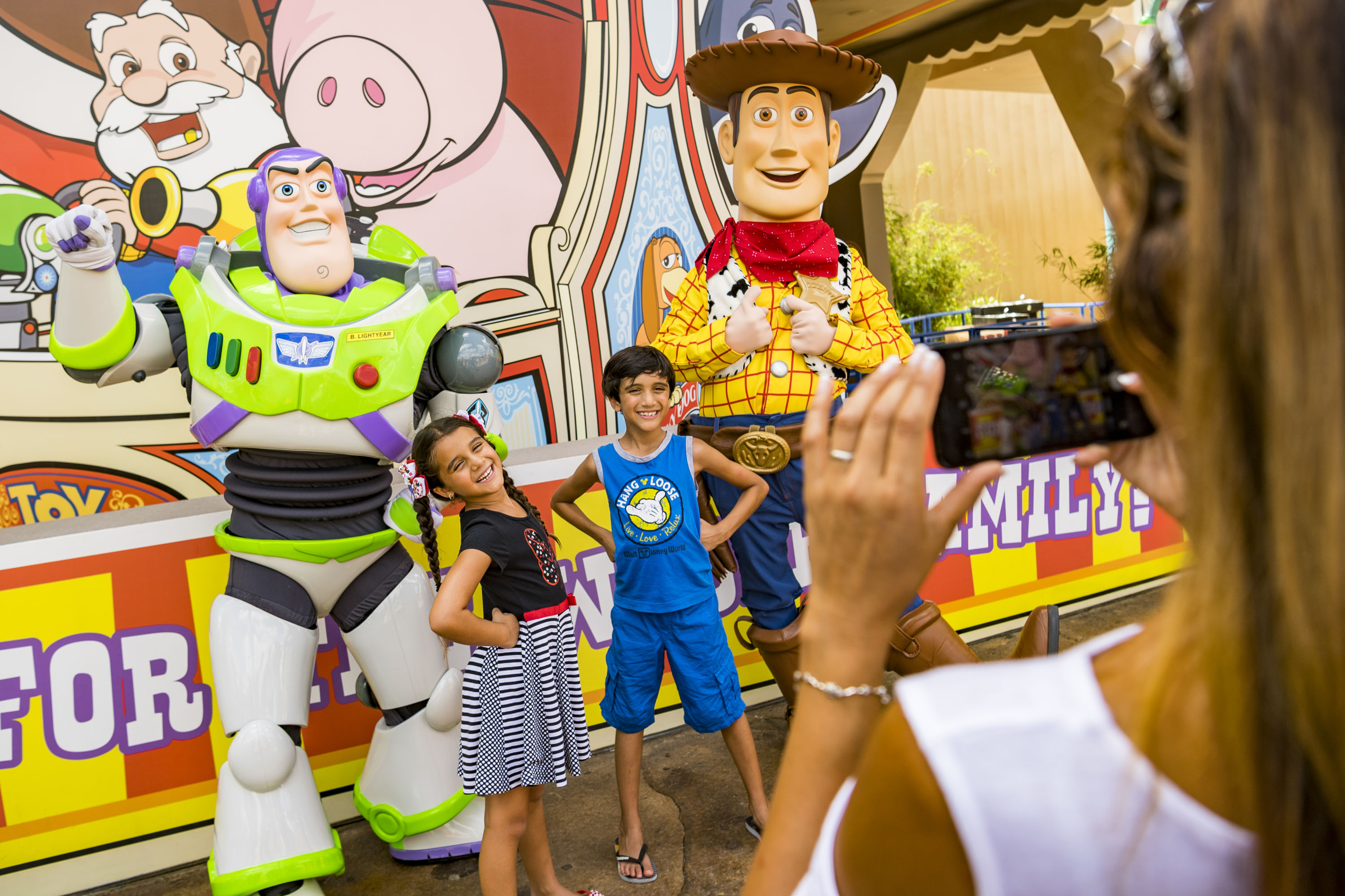 Wood and Buzz meet and greet at Toy Story Land