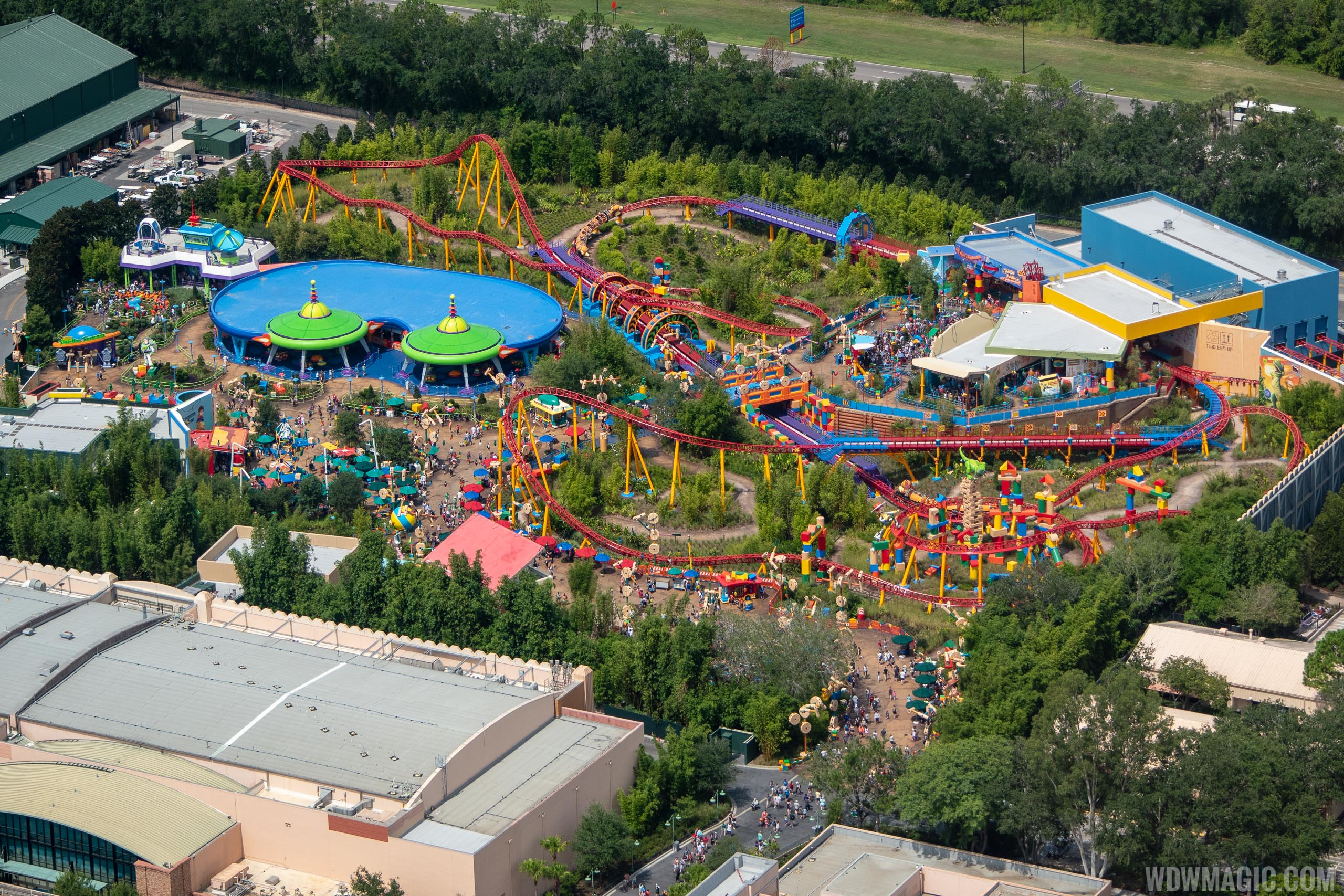 Operational Toy Story Land aerial views