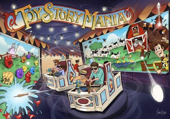Toy Story Mania concept art
