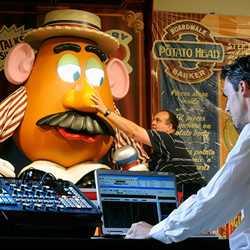 Imagineering programming the Mr Potato Head animatronic figure