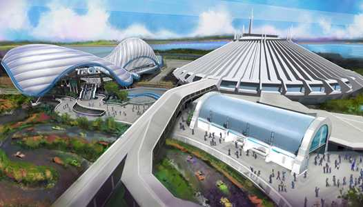 Permits filed for construction of the main Tron ride building at the Magic Kingdom
