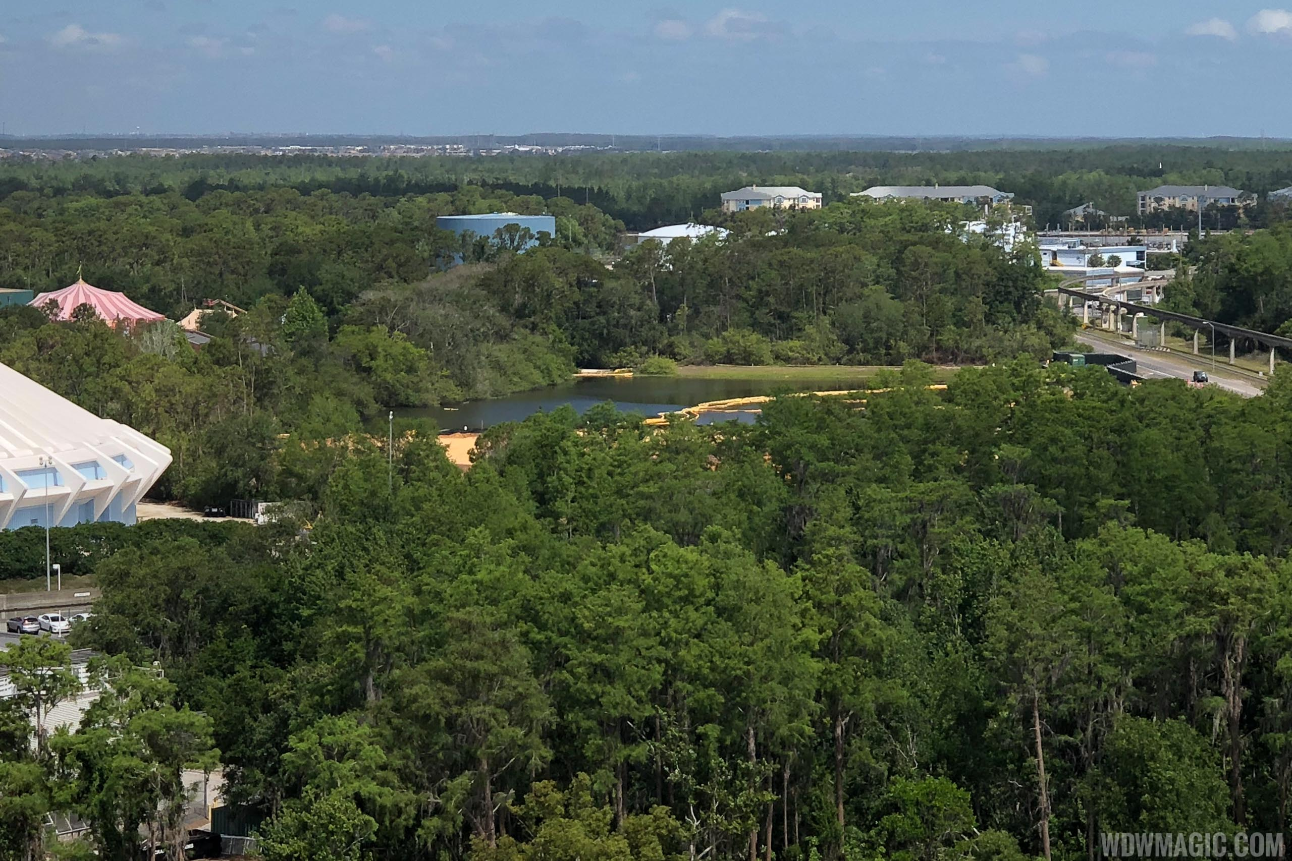 Tron ground clearing at the Magic Kingdom