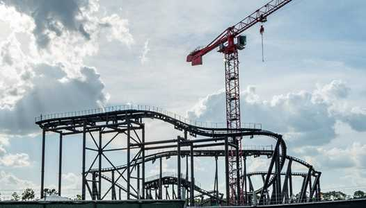 PHOTOS - TRON rollercoaster construction at the Magic Kingdom