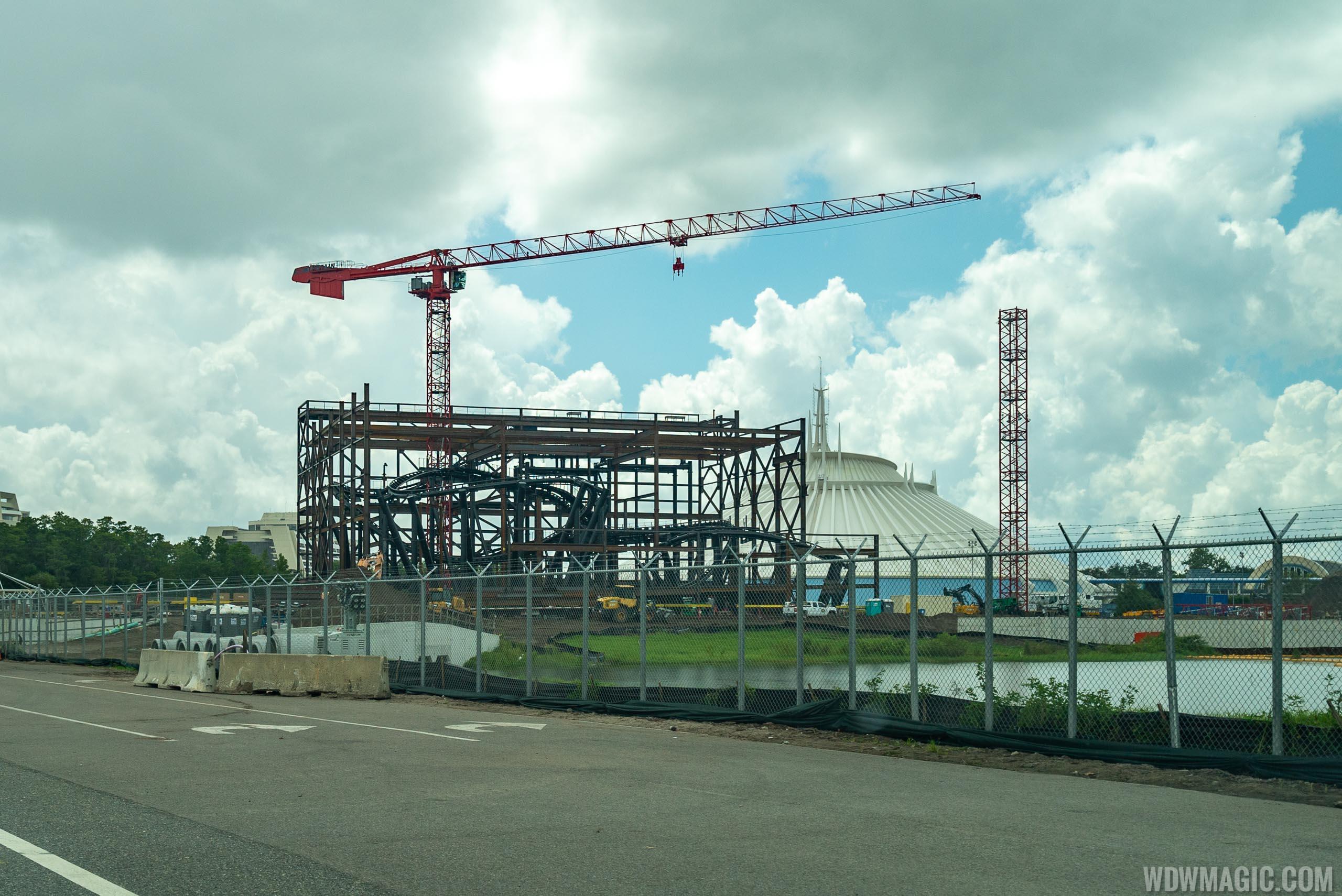 TRON Lightcyle Run construction site - August 2019