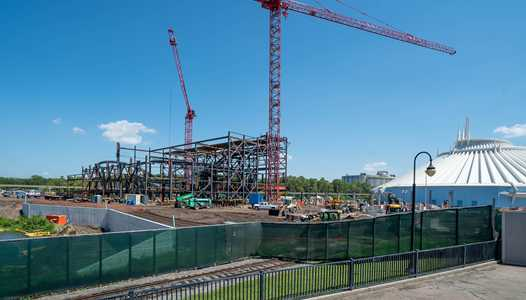 PHOTOS - Latest look at the TRON Lightcycle Run construction site