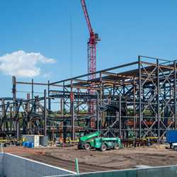 TRON Lightcycle Run construction site - September 2019