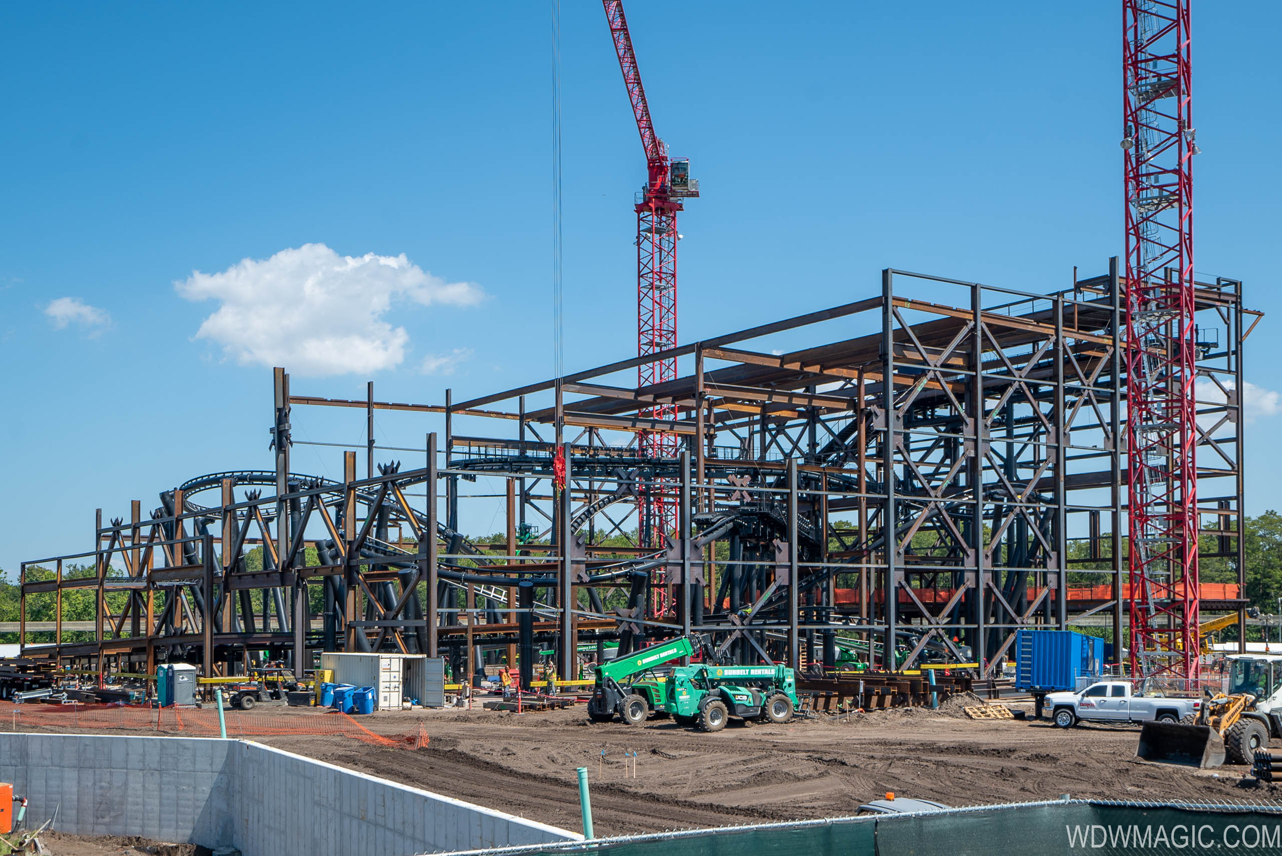 TRON Lightcycle Run construction site - September 2019